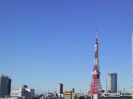 晴れた日の東京タワー