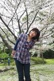 お花見桜と桃子さん.JPG