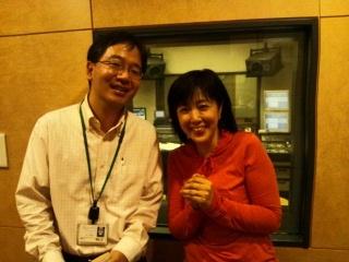 終了後、オンエアの話題に出てきた長谷川のび太アナと遭遇.JPG
