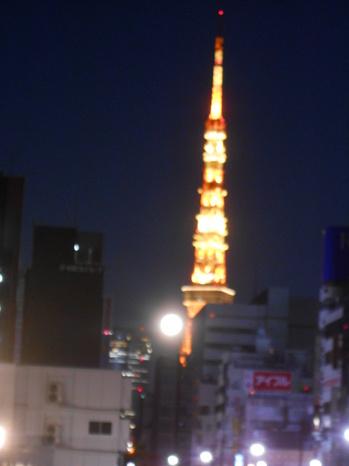 満月と東京タワー201700211.JPG