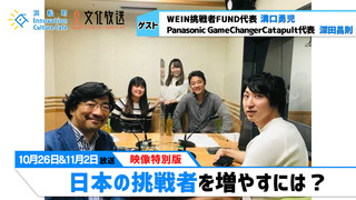 「日本の挑戦者を増やすには?」文化放送「浜カフェ」映像特別版