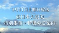 <font color=deeppink><strong>★New!</strong></font>3月11日(土)放送 東日本大震災特別番組・特集