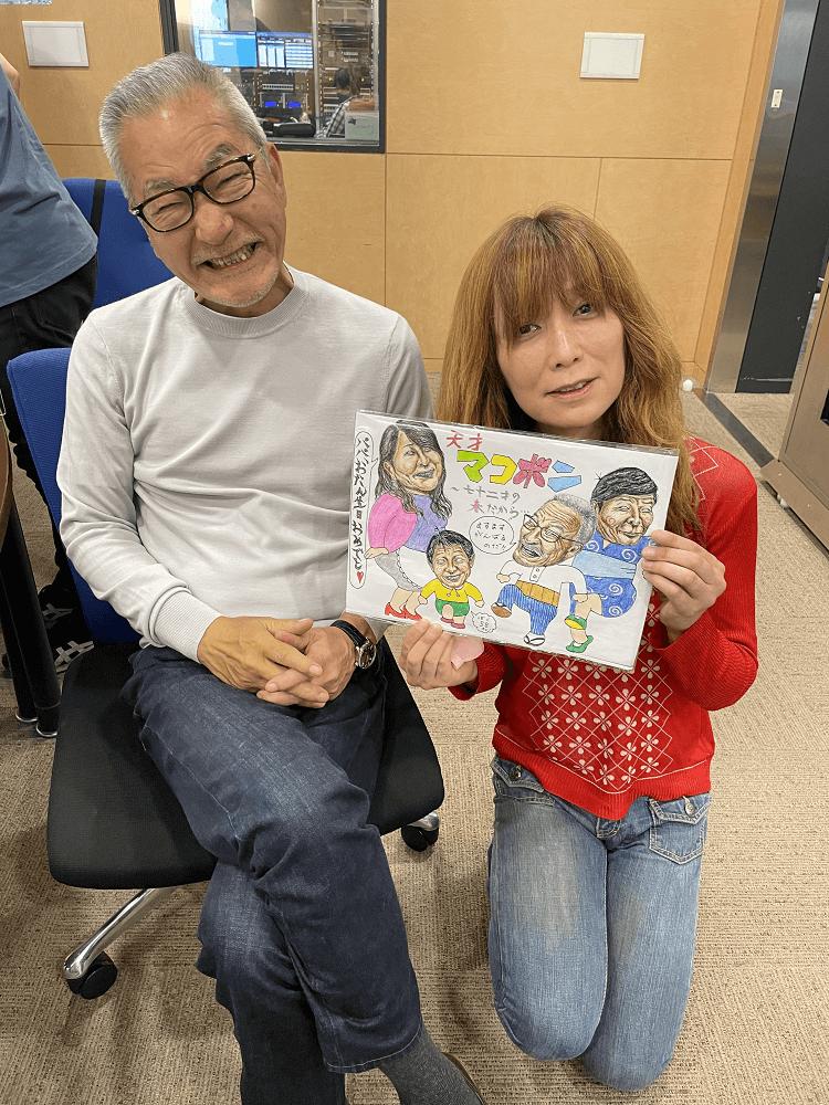 鬼才タブレット純画伯が、もうすぐ72歳の大竹まことさんの誕生日を祝って、超力作のボールペン画をプレゼント!